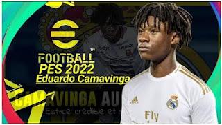 Download eFootball PES 2022 PPSSPP Eduardo Camavinga Edition Best Graphics Original Camera PS5 & New Transfer