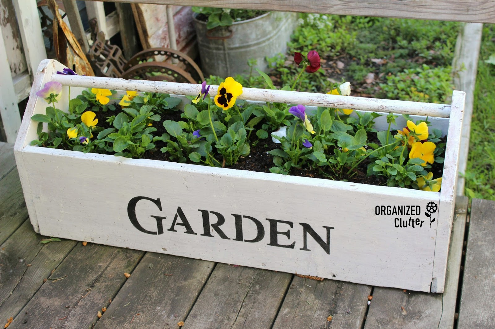 More Garden Projects with Funky Junk Interiors\' Old Sign Stencils ...
