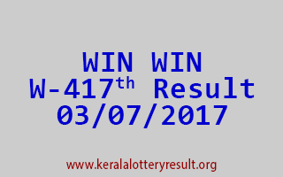 WIN WIN Lottery W 417 Results 3-7-2017