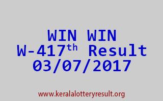 WIN WIN Lottery W 417 Results 3-7-2017