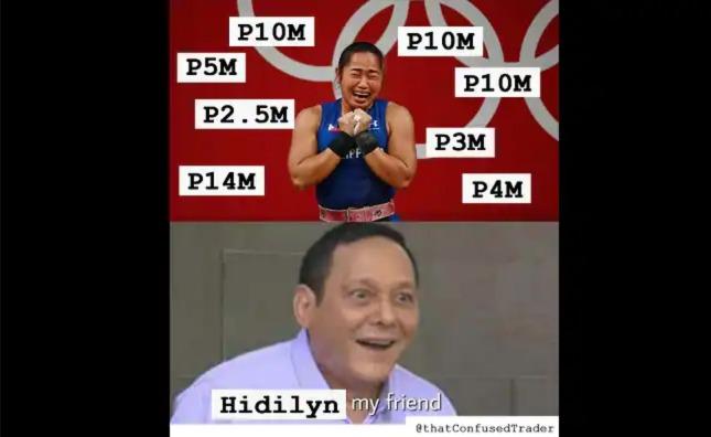 Viral meme nina Hidilyn Diaz at Tommy ng 'Pepito Manaloto', kinaaliwan ng netizens