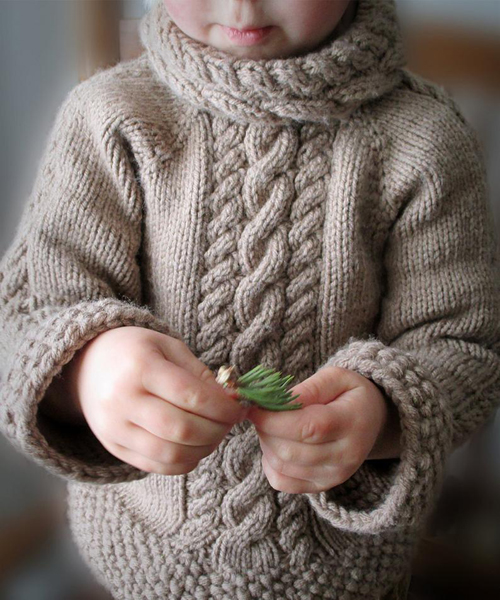 Cable Sweater for Baby - Knitting Pattern