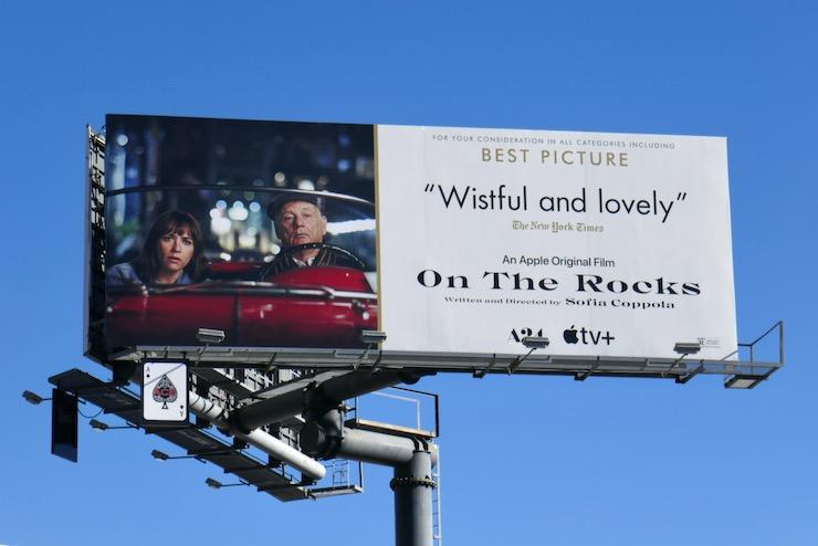 On the Rocks film FYC billboard
