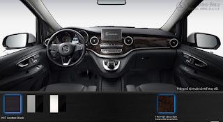 Nội thất Mercedes V250 Avantgarde 2018 màu Đen VX7