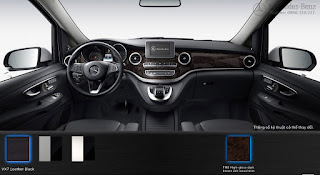 Nội thất Mercedes V250 Avantgarde 2019 màu Đen VX7
