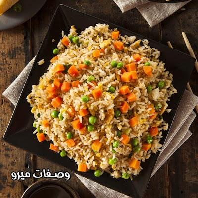 طريقة عمل الأرز بالخضار والذرة