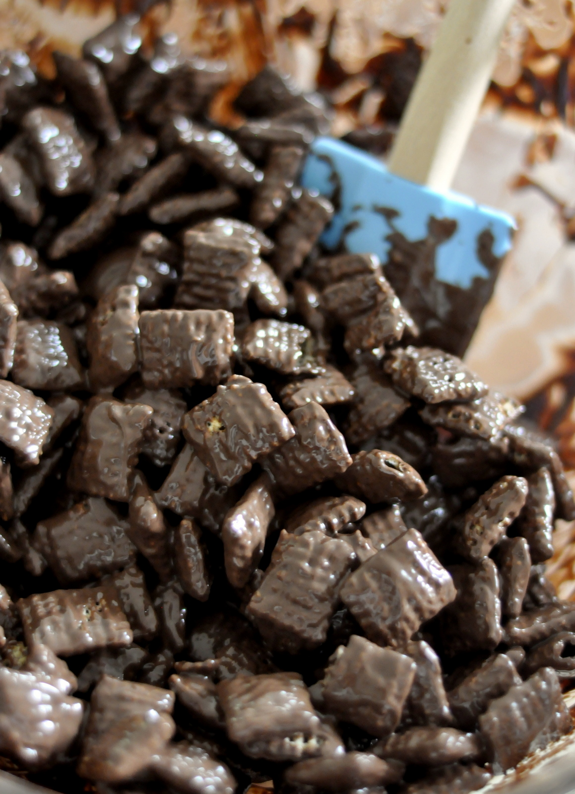 Rice Chex Cereal and Melted Dark Chocolate | Taste As You Go