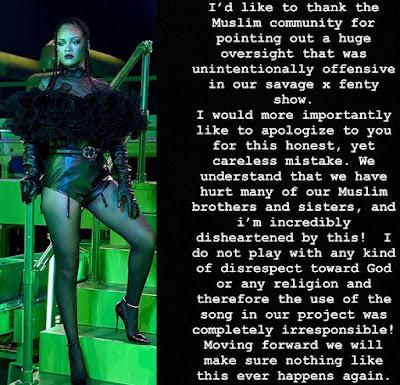 Rihanna, Lingerie, Lagu Doom dan Potongan Suara Syaikh Mishari Rasyid Al-'Afasi Saat Menuturkan Hadis