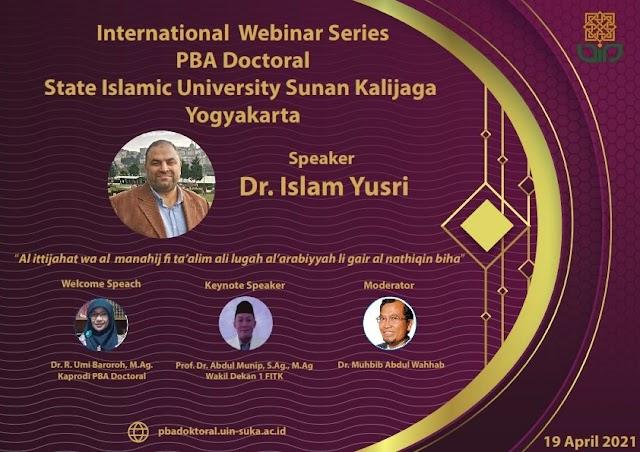 """UIN Sunan Kalijaga Adakan """"International Webinar Series Satu"""" dengan Mengundang Narasumber dari Fatih Sultan Mehmet Vakif University Turki"""