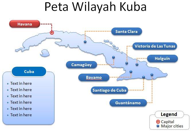 image: Slide 1 Template Powerpoint Peta Kuba