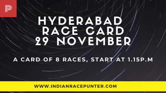 Hyderabad Race Card 29 November, Race Cards