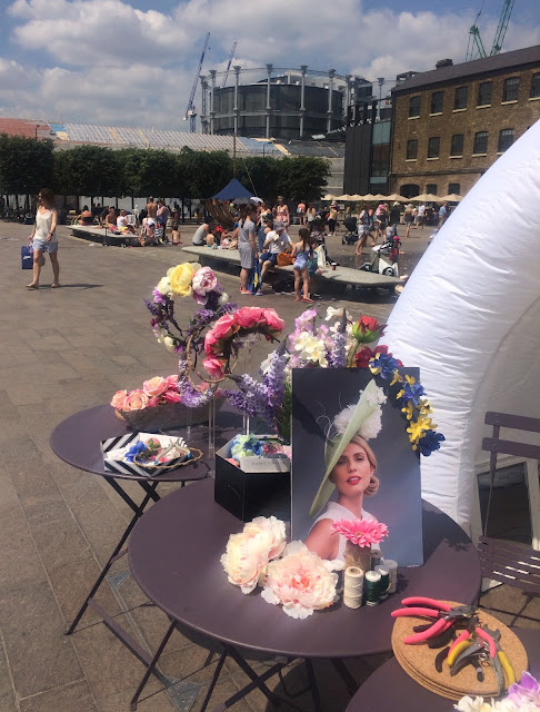 Floral Garland Workshops at King's Cross Canal Festival