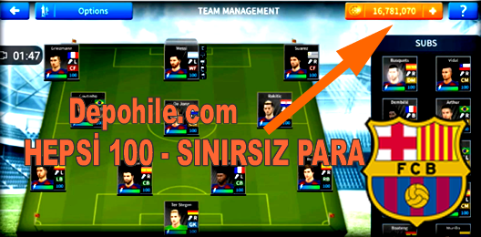 Dream League Soccer 2019 v6.13 Barcelona Yaması PARA Hileli