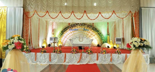 simple wedding stage decoration
