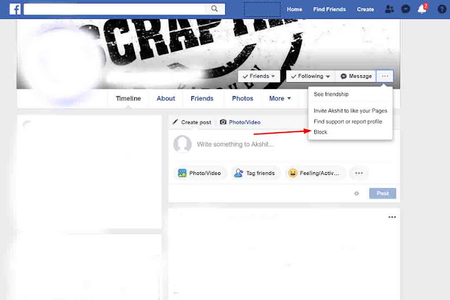 How to block on facebook in Oprea Browser