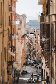 Cagliari's historic centre has many steep, narrow alleys