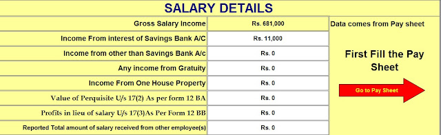 Income Tax Calculator for the Non-Govt Employees for f.Y.2020-21