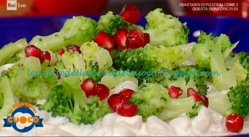 Perle di patate con salsa al formaggio broccoli e melagrana ricetta Fabio Campoli da Prova del Cuoco