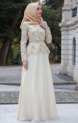 Baju muslim brokat model dress