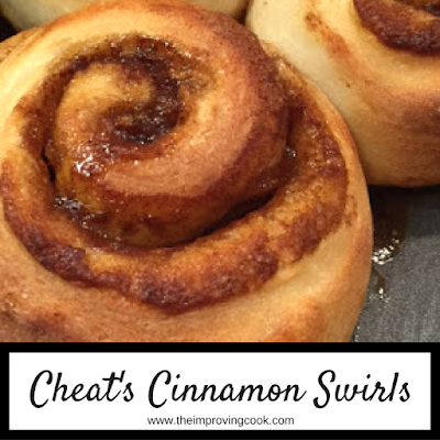 Close up of a cooked cinnamon swirl