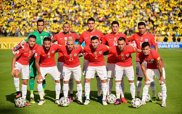 Formación de Chile ante Ecuador, Clasificatorias Rusia 2018, 6 de octubre de 2016