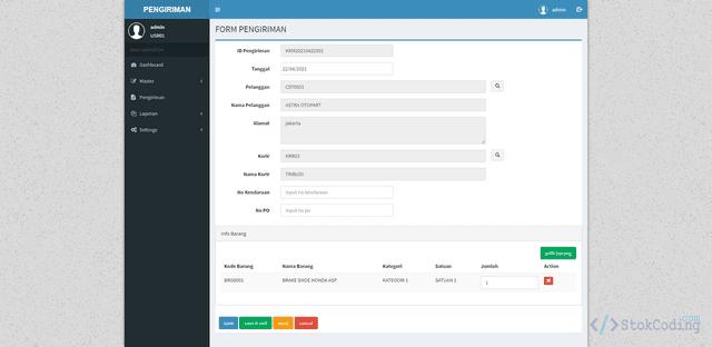 Aplikasi Pengiriman Barang Berbasis Web (Codeigniter)