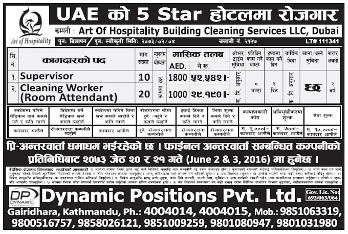 Job Vacancy in 5 Star Hotel of Dubai, Salary Up to Rs 52,542