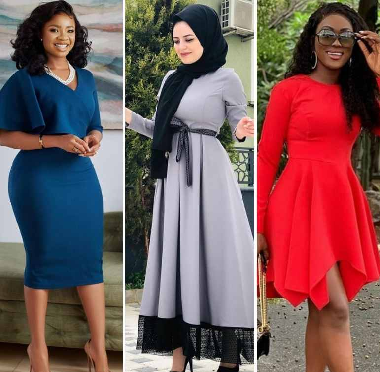 Crepe Material Gown Styles