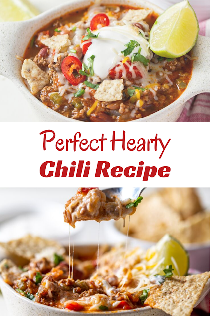 This Perfect Hearty Chili recipe brings together just the right balance of sweet and spicy. Packed with meat and beans, this chili is, hands-down, my family's favorite homemade chili!