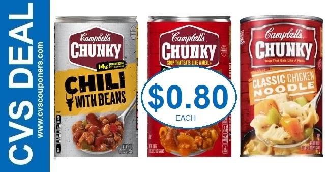 Campbell's Chunky Soup BOGO Free CVS Deals