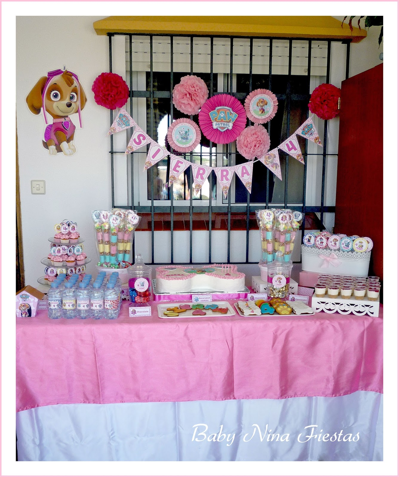 Baby Nina Fiestas Mesa Dulce Skye Patrulla Canina Para El 4to