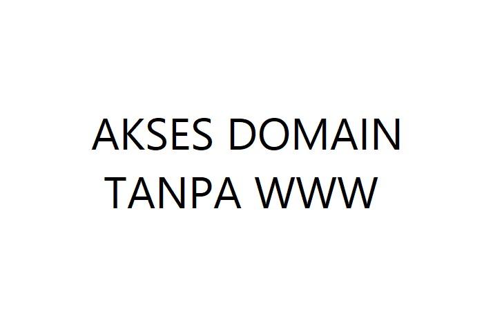 Cara Mengatasi Domain TLD tidak Bisa di Akses Tanpa WWW pada Blogspot