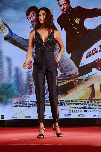 Disha Patani Hot Stills at Kung Fu Yoga Promotions