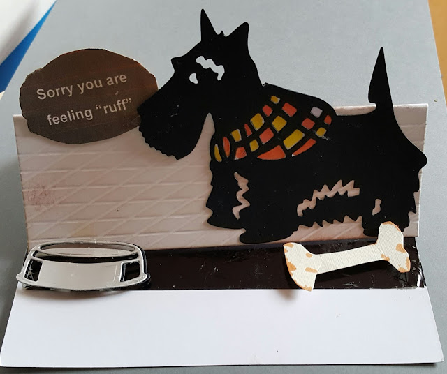 Get Well Soon - Scottie dog C6 easel card
