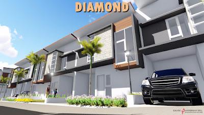 Foto 3D Ilustrasi dan Desain Cluster Diamond di Exotic Panderman Hill