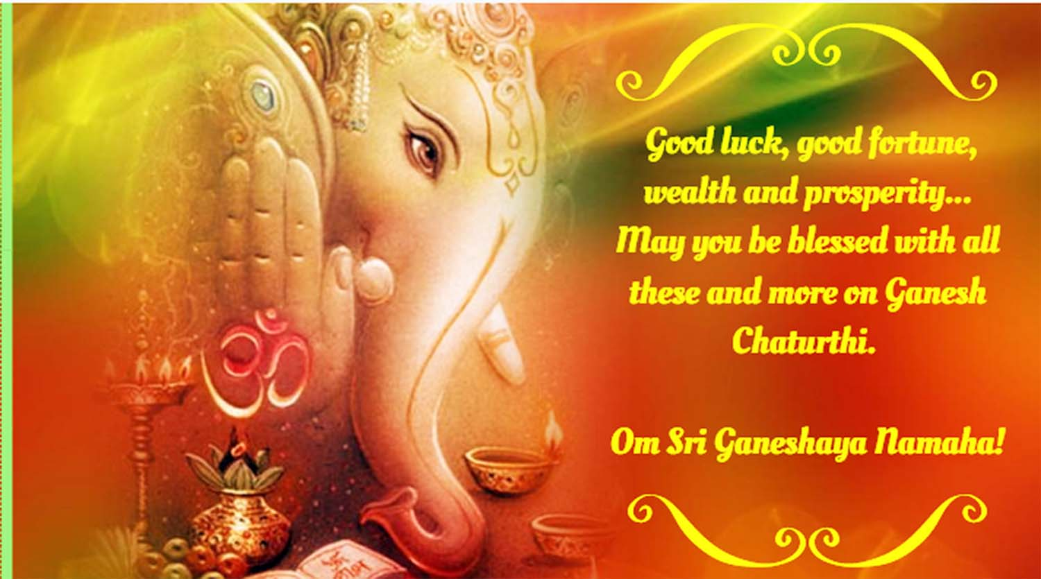 Happy ganesh festival greetings