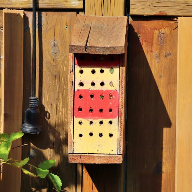 bee hotel pollinator garden