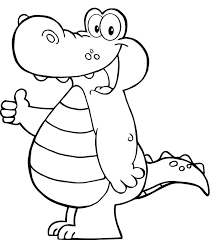 Cute Smile Crocodile Coloring Sheet For Print