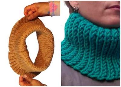Cuellos altos a ganchillo o crochet