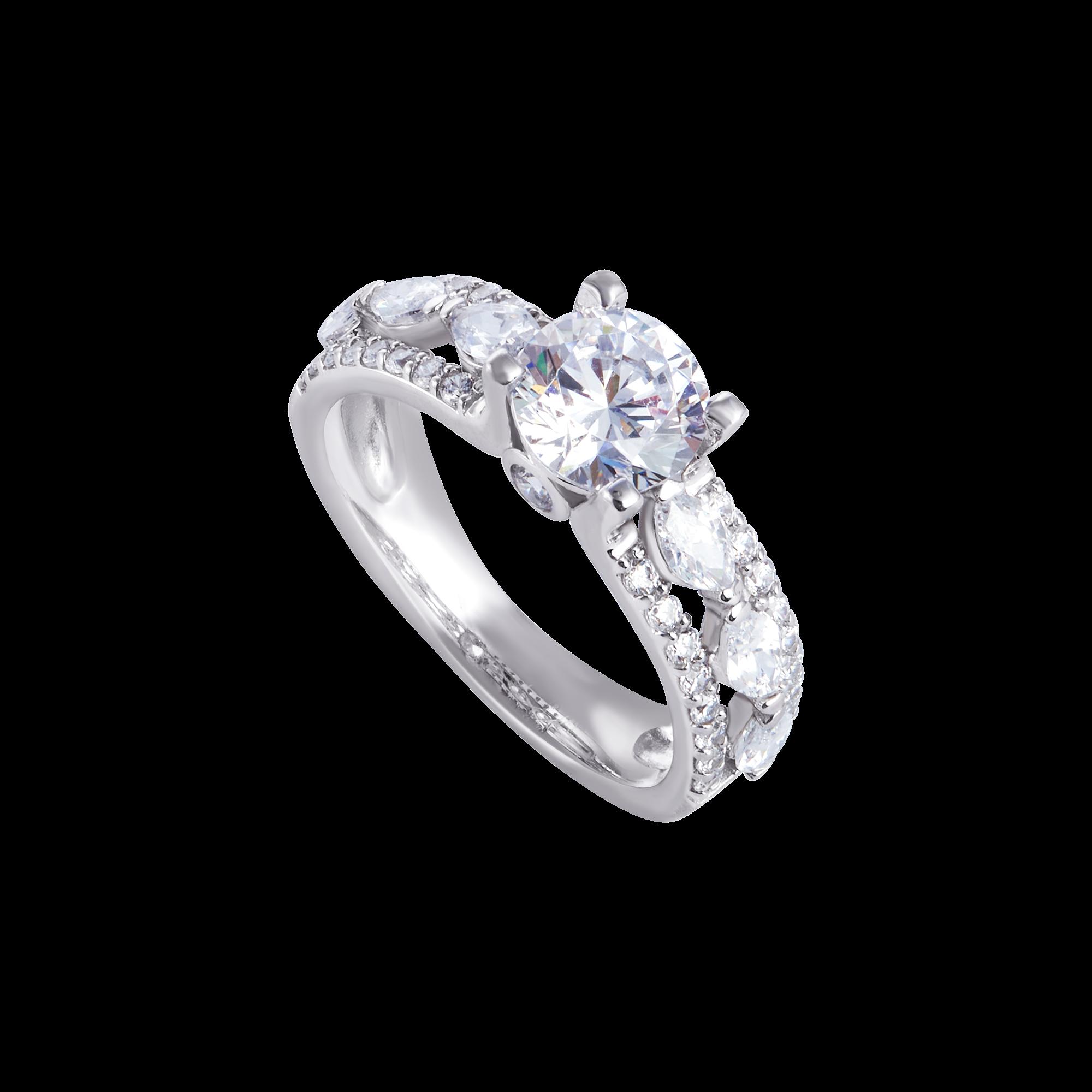 Nhẫn bạc đính đá PNJSilver XMXMK000191