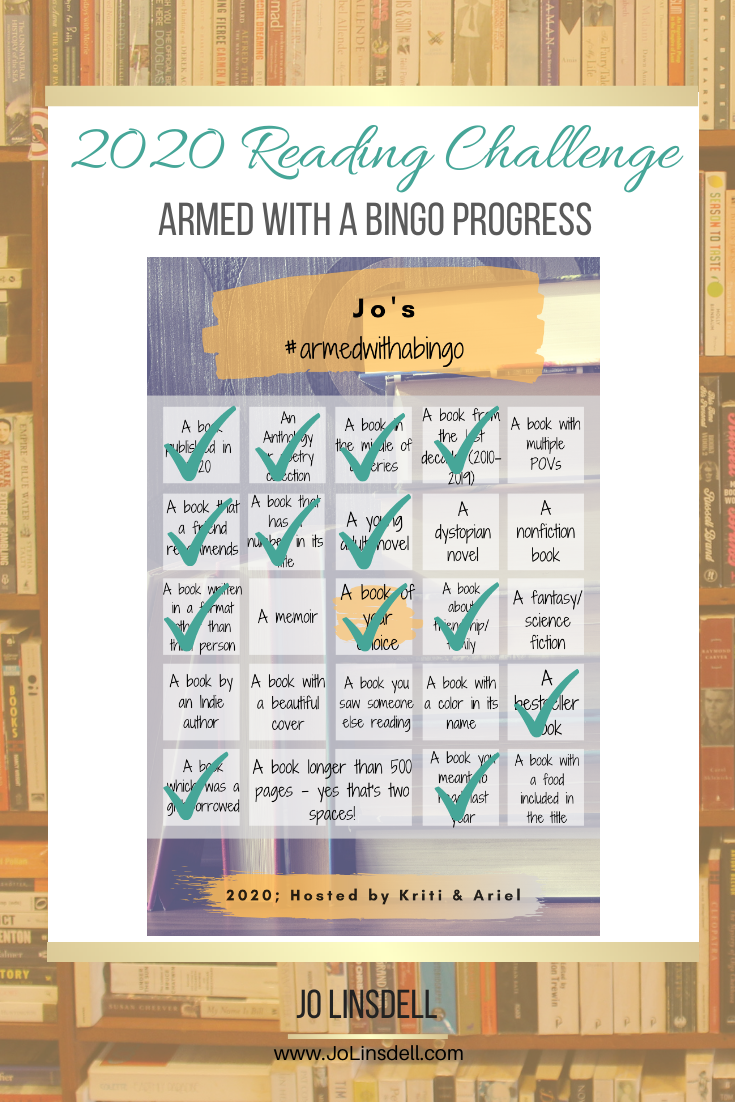 Armed with a Bingo Challenge 2020 Progress Report