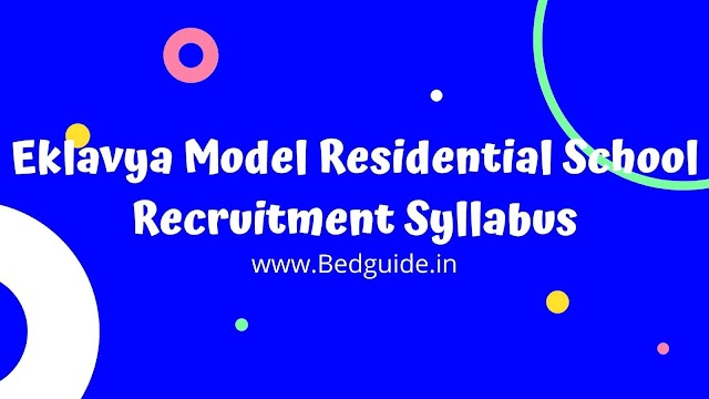 Eklavya Model Residential School Recruitment Syllabus