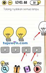 Jawaban level 88 Tolong nyalakan semua lampu Brain test