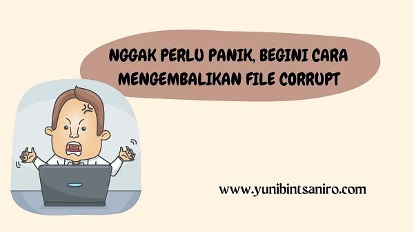 Nggak Perlu Panik, Begini Cara Mengembalikan File Corrupt