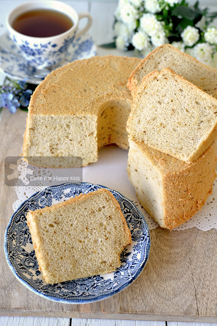 perfect ultra cottony soft tea chiffon cake