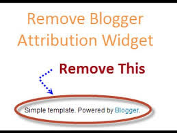 Remove Attributions Powered by Blogger on your Blog