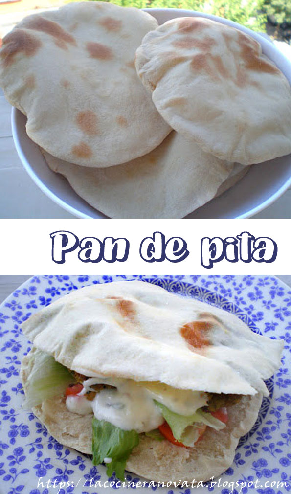 Pan de pita la cocinera novata cocina receta gastronomia arabe pan panarra horno baking plan plano