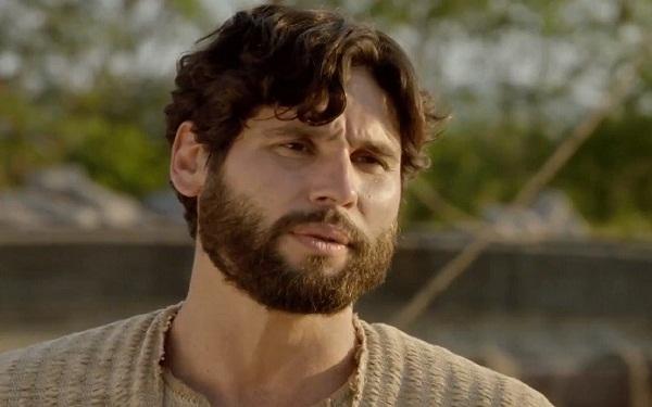 Jesus (Dudu Azevedo) duvidará da fé dos apóstolos nos próximos capítulos de Jesus (Imagem: Reprodução/RecordTV)