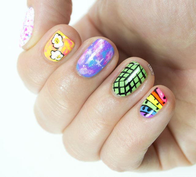 EDC Nail Art by Katy @ Nailed It www.blognailedit.co