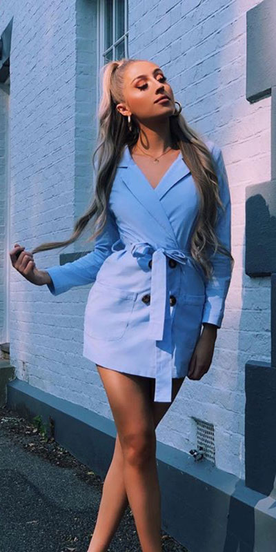 Capture everyone's attention with these latest summer looks. 27 Trending Summer Outfits by Stylish Instagram Influencers. Summer Styles via higiggle.com | blazer mini dress | #summeroutfits #instagram #style #blazer